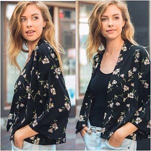 Sweaters - Bohemian Floral Lightweight Cardi Kimono One Size
